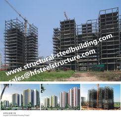 Chine Les appartements ont fabriqué les bâtiments à pans de bois en acier d'étage multi, bâtiments préfabriqués en acier ayant beaucoup d'étages de gratte-ciel fournisseur