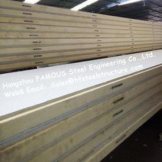 Chine La pièce de réfrigérateur de polystyrène lambrisse la densité 42kg avec de l'acier de couleur/plaque d'acier inoxydable externes fournisseur