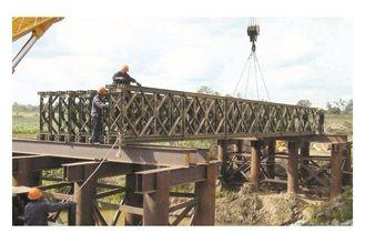 Chine Morden a galvanisé/pont de Bailey de soudure d'acier de construction avec l'appui de métaux lourds fournisseur
