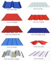 Chine La toiture enduite en métal de couleur couvre Customzied pour la structure métallique fournisseur