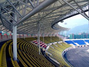 Chine Stade adopté par botte de grande envergure de fabrications de structure métallique de tuyau d'acier fournisseur