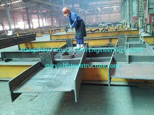 Chine Pré construction de la peinture grise enduite en acier commerciale de faisceau de section des bâtiments H fournisseur