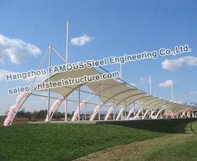 Chine Bâtiment en acier commercial de structure de membrane avec PVC PVDF PTFE fournisseur