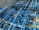 Tribunes de bâtiments de botte en métal de tuyau et stades préfabriqués adaptés aux besoins du client de sports