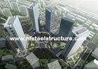 Chine Soudure préfabriquée d'OEM, bâtiments en acier commerciaux en métal freinant, de roulement et de peinture usine