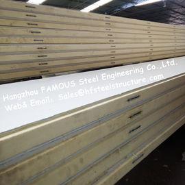 La pièce de réfrigérateur de polystyrène lambrisse la densité 42kg avec de l'acier de couleur/plaque d'acier inoxydable externes