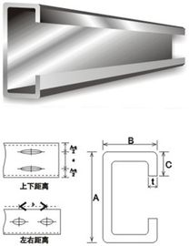 Purlins en acier galvanisés C de matériau de construction d'acier de construction et acier de Purlin de Z