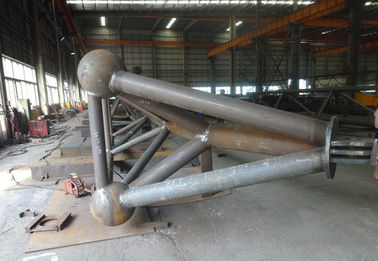 Le type de H/fabrications en forme de boîte d'acier de construction sifflent le type fabrication de botte