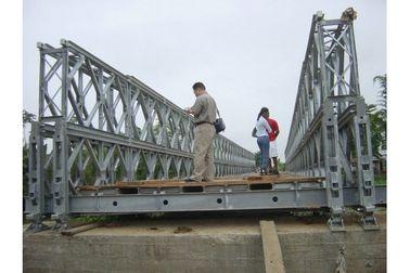 Pont de Bailey en acier adapté aux besoins du client de stabilité de plate-forme de bois de construction/pont en acier portatif CB100, CB200