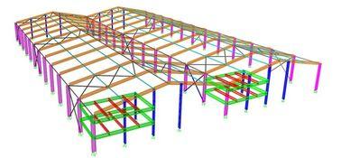 Type normal/spécial de conceptions techniques structurelles portailes de cadre en acier, de structure