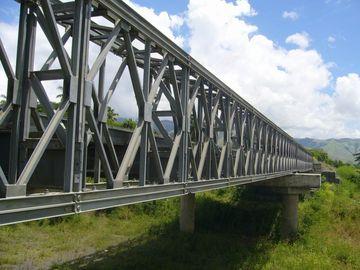 Pont de Bailey préfabriqué galvanisé, de peinture et de meulage électrique d'acier de construction