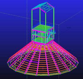 Immersion chaude faite sur commande galvanisée, conceptions techniques structurelles en acier imperméables et préfabriquées