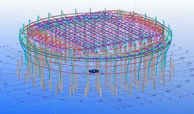Conceptions techniques structurelles en acier faites sur commande pour des usines, des entrepôts et des salles d'exposition